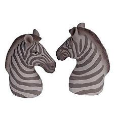 Zebra Head Bookend Pair - 75014