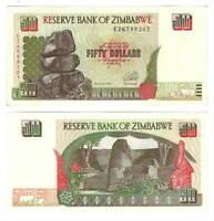 UNC ZIMBABWE $50 Dollars (1994) P-8