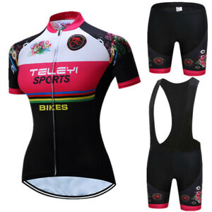 Women Cycling Jersey Set Breathable Bicycle Clothing Quick Dry MTB Bike Jersey