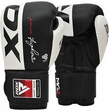 RDX Cuero de vaca cuero Guantes De Boxeo MMA Combate Entrenamiento Punch Bag Muay Thai S4B