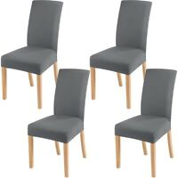 Chair Cover 4Pcs Stretch Removable Seat Slipcover Washable Banquet Furniture