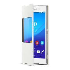 Etui Rabat avec fenêtre Sony Protection Window SCR30 Xperia Z3 Plus Blanc E6553