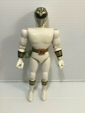1993 MMPR Power Rangers White Ranger 8? Bandai Action Figure