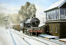 More details for splendid north eastern mounted railway print t3 6-8-0 at cowton yorkshire 1920