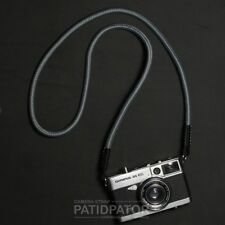 Color Gray Rope Climbing Neck / Shoulder Strap Compatible with all Camera.