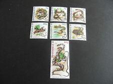 GIBRALTAR 2001 SG 960-966 SNAKES MNH