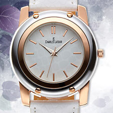 CHARLES LATOUR ~ EXOTIC LADIES WATCH / MSRP $849.00 (AVAILABLE IN 2 COLORS)