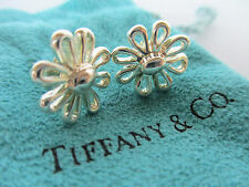 Tiffany & Co. Sterling Silver Paloma Picasso Daisy Stud Earrings in Pouch & Box