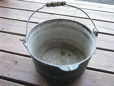 Green Vintage Dutch Oven Pot Cast Iron no lid Great for decor