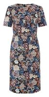 Monsoon Mal Jacquard Dress Multi Coloured Floral Uk 14 Bnwt