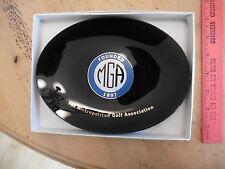 MIKE FETCHICK ESTATE Vintage MGA Metropolitan Golf Association Glass Plate Dish