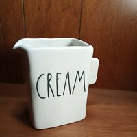 "RAE DUNN ARTISAN COLLECTION BY MAGENTA ""CREAM"" SQUARE CREAMER/PITCHER NEW!!!"