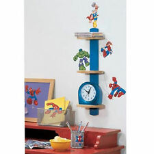 Wall Sticker 20+ pc Spider Man & Friends Reusable Children Room Decor NIP