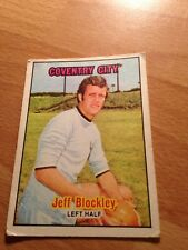 A&BC  Card -Orange Back 1970/71 - Jeff Blockley - Coventry City - #57