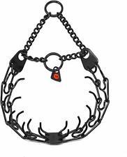 Herm Sprenger Black Stainless Steel Prong Dog Training Collar Ultra-Plus