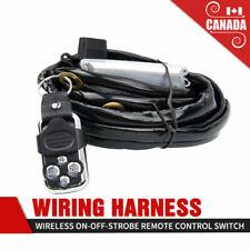 Light Bar Wiring Harness Wireless Strobe Wiring Kit ON-OFF-Strobe Remote Control