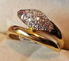 18KT YELLOW GOLD SNAKE RING WITH 19 BRILLIANT DIAMONDS