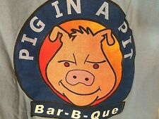 T-SHIRT M 100% CottonBLUE  -PIG IN A PIT BBQ- MILLEDGEVILLE, GA MACON, GAc