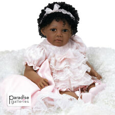 Paradise Galleries African American Black Reborn Toddler Chantilly - 20 inch