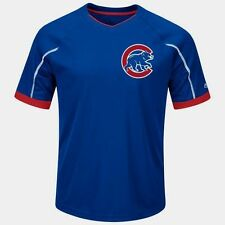 Chicago Cubs V-Neck Emergence Jersey Shirt 3XL Royal/Red Two Sided Cool Base MLB