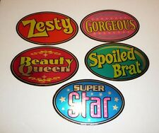 Lot of 5 Stickers from Vending Machines Super Star Beauty Queen Spoiled Brat