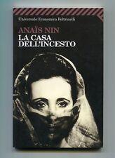 Anais Nin LA CASA DELL'INCESTO Feltrinelli 2008 Libro Testo originale fronte