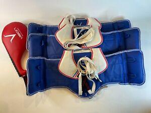 4 Piece lot Taekwondo Boxing Vision Chest Protector REVERSIBLE Kick Pad