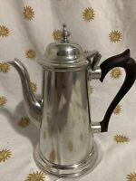 Vintage Stieff Pewter Coffee/Tea Pot Texaco Logo 40 Years Of Service Gift P1-22