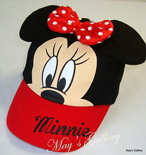 Disney Minnie  Mouse Baseball Cap Hat  Base ball Adjustable NWT snapback ears