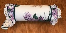 WAVERLY Fieldcrest Ruffle Neckroll Bolster Pillow-NEW WITH TAGS