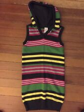 Gymboree Merry And Bright Sweater Striped With Hood Dress Girl 8