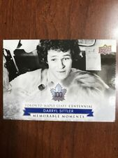 2017 Ud Toronto Maple Leafs Centennial Collection #182 Darryl Sittler