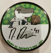 Mirco Mueller San Jose Sharks Autographed Mystery Puck 2015 St. Patrick's Day