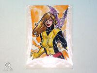 2014 Marvel Premier Kitty Pryde Artist Sketch Card Bienfer Flores Upper Deck 1/1