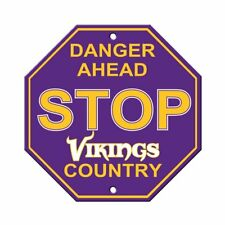 Minnesota Vikings STOP SIGN Danger Ahead Chiefs Country 12x12 USA SHIPPER