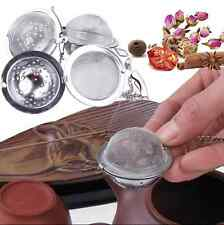 Hot Tea Leaves Herb Mesh Ball Stainless Steel Infuser Filter Squeeze Strainer
