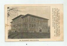 1906 MT PLEASANT IOWA IA HIGH SCHOOL POSTCARD EVERETT PIANO ADVERTISING SINGER