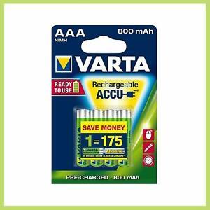"VARTA Blister de 4 Accu Ni-MH ""Longlife Accu"" 800 mAh Micro AAA HR03"