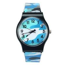 Camouflage Children Watch Quartz Wristwatch For Girls Boy Blue