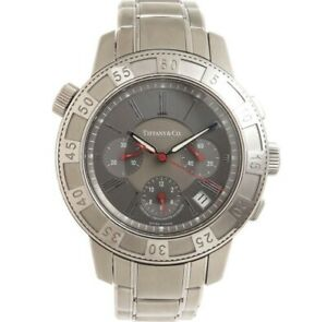 TIFFANY & CO. T-57 CERTIFIED CHRONOMETER CHRONOGRAPH SWISS AUTOMATIC wristwatch