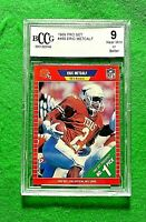 ERIC METCALF BCCG NEAR MINT 9 GRADED CARD JERSEY #2 BROWNS 1989 PRO SET FOOTBALL