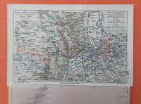 Die Schlachten um Metz 1870   Landkarte 1906  Krieger Denkmäler Schlachtfelder