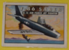 """""""F-86 Saber U.S. Air Force Jet Fighter #71 Trading Card Great Pic! See!"""