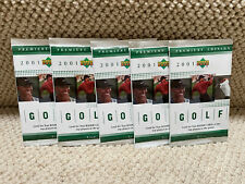 2001 Upper Deck Golf Lot 5 Green Hobby Packs Tiger Woods Only Real Rookie