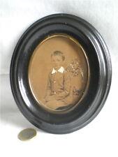 BEAU PORTRAIT D'ENFANT MINIATURE LAVIS XIXème
