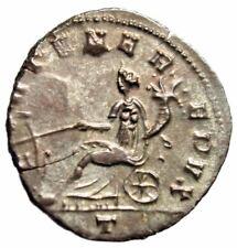 "Aurelian Silvered Antoninianus ""FORTVNA REDVX Fortuna Seated"" Milan RIC 128 EF"