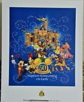 """Disneyland """"Happiest Homecoming on Earth"""" Passholder Exclusive Lithograph w/COA"""