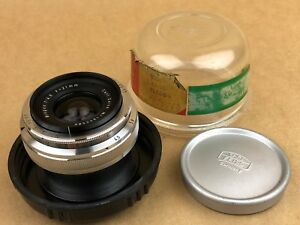 Carl Zeiss 21mm f/4.5 Biogon for Contax RF Lens w/bubble Case -Leica competitor