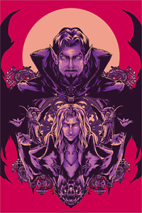 """Castlevania Vlad and Alucard Limited Giclee Print Art Poster #65 16"""" x 24"""""""