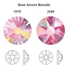 Swarovski x 50 MIXED SIZE Rose AB Pink GLUE ON Crystals Rhinestones Nail Art